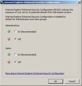 IE Enhanced Security Configuration