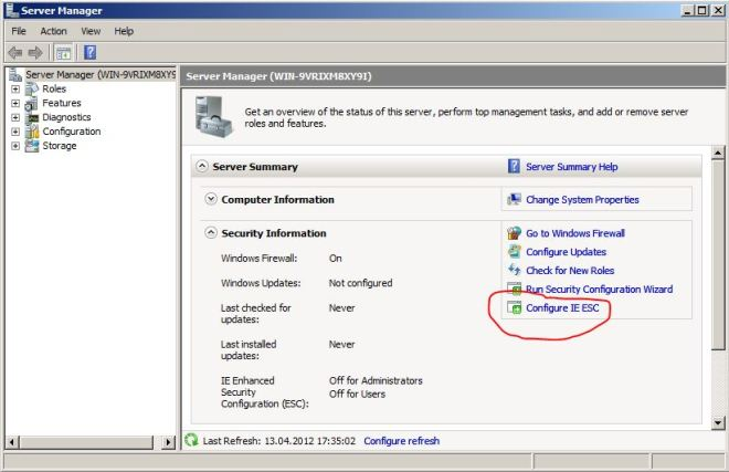 Windows Server 2008 - Server Manager